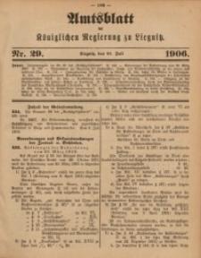 Amts-Blatt der Königlichen Regierung zu Liegnitz, 1906, Jg. 96, Nr. 29