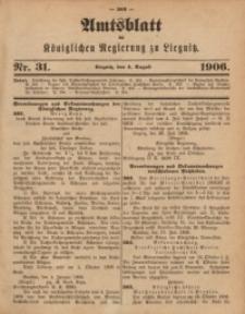 Amts-Blatt der Königlichen Regierung zu Liegnitz, 1906, Jg. 96, Nr. 31