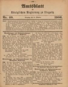 Amts-Blatt der Königlichen Regierung zu Liegnitz, 1906, Jg. 96, Nr. 40