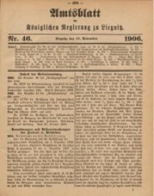 Amts-Blatt der Königlichen Regierung zu Liegnitz, 1906, Jg. 96, Nr. 46