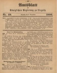 Amts-Blatt der Königlichen Regierung zu Liegnitz, 1906, Jg. 96, Nr. 49