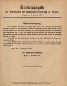 Sonderausgabe des Amtsblattes der Königlichen Regierung zu Liegnitz