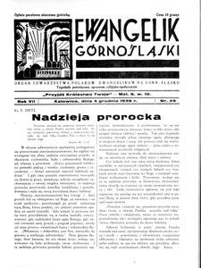 Ewangelik Górnośląski, 1938, R. 7, nr 49