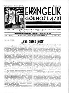 Ewangelik Górnośląski, 1938, R. 7, nr 51