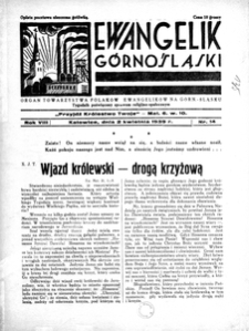Ewangelik Górnośląski, 1939, R. 8, nr 14