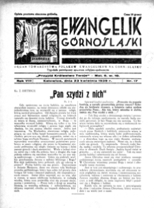 Ewangelik Górnośląski, 1939, R. 8, nr 17