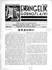 Ewangelik Górnośląski, 1939, R. 8, nr 21
