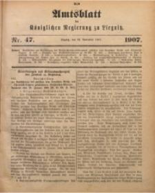 Amts-Blatt der Königlichen Regierung zu Liegnitz, 1907, Jg. 97, Nr. 47