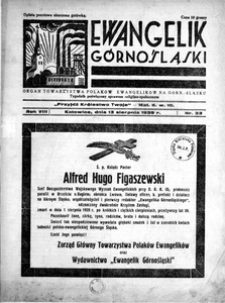 Ewangelik Górnośląski, 1939, R. 8, nr 33