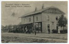 Ernsdorf, Bahnhof u. Restauration. Jaworz, Dworzec kolejowy i restauracya