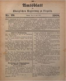 Amts-Blatt der Königlichen Regierung zu Liegnitz, 1908, Jg. 98, Nr. 29