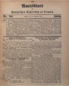 Amts-Blatt der Königlichen Regierung zu Liegnitz, 1908, Jg. 98, Nr. 50
