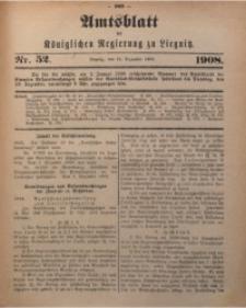 Amts-Blatt der Königlichen Regierung zu Liegnitz, 1908, Jg. 98, Nr. 52