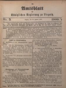 Amts-Blatt der Königlichen Regierung zu Liegnitz, 1909, Jg. 99, Nr. 5