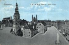 Ottmachau. Ring mit Rathaus u. kath. Kirche
