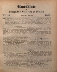 Amts-Blatt der Königlichen Regierung zu Liegnitz, 1910, Jg. 100, Nr. 10