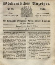 Wöchentlicher Anzeiger, 1844, Jg. 27, No. 10