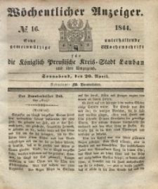 Wöchentlicher Anzeiger, 1844, Jg. 27, No. 16