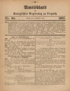 Amts-Blatt der Königlichen Regierung zu Liegnitz, 1911, Jg. 101, Nr. 35