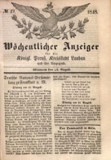 Wöchentlicher Anzeiger, 1848, Jg. 31, No. 42