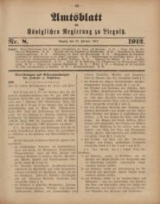 Amts-Blatt der Königlichen Regierung zu Liegnitz, 1912, Jg. 102, Nr. 8