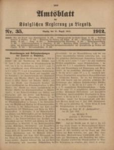 Amts-Blatt der Königlichen Regierung zu Liegnitz, 1912, Jg. 102, Nr. 35