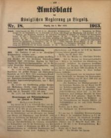Amts-Blatt der Königlichen Regierung zu Liegnitz, 1913, Jg. 103, Nr. 18