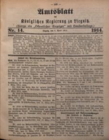 Amts-Blatt der Königlichen Regierung zu Liegnitz, 1914, Jg. 104, Nr. 14