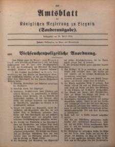 Amts-Blatt der Königlichen Regierung zu Liegnitz, Sonderausgabe am 25. April 1914