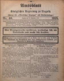 Amts-Blatt der Königlichen Regierung zu Liegnitz, 1915, Jg. 105, Nr. 46