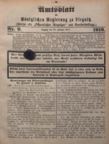 Amts-Blatt der Königlichen Regierung zu Liegnitz, 1916, Jg. 106, Nr. 9