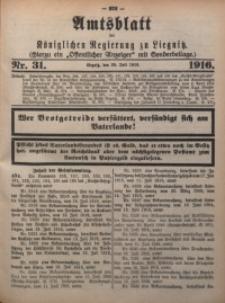 Amts-Blatt der Königlichen Regierung zu Liegnitz, 1916, Jg. 106, Nr. 31