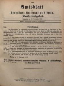 Amts-Blatt der Königlichen Regierung zu Liegnitz, Sonderausgabe am 18. September 1916