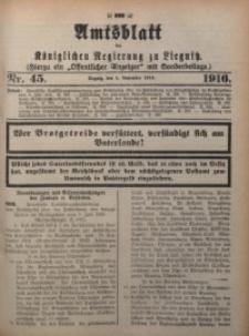 Amts-Blatt der Königlichen Regierung zu Liegnitz, 1916, Jg. 106, Nr. 45