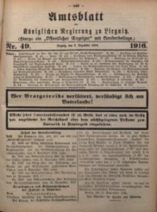 Amts-Blatt der Königlichen Regierung zu Liegnitz, 1916, Jg. 106, Nr. 49