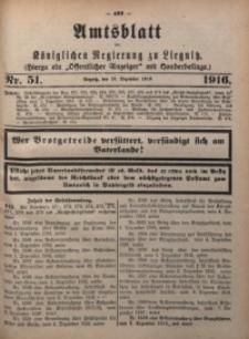 Amts-Blatt der Königlichen Regierung zu Liegnitz, 1916, Jg. 106, Nr. 51