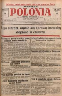 Polonia, 1928, R. 5, nr 70