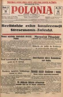 Polonia, 1928, R. 5, nr 74