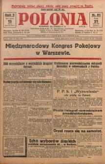 Polonia, 1928, R. 5, nr 81