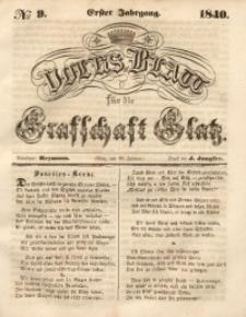 Volks-Blatt für die Grafschaft Glatz, 1840, Jg. 1, No. 9