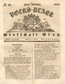 Volks-Blatt für die Grafschaft Glatz, 1840, Jg. 1, No. 32