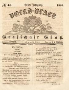 Volks-Blatt für die Grafschaft Glatz, 1840, Jg. 1, No. 44