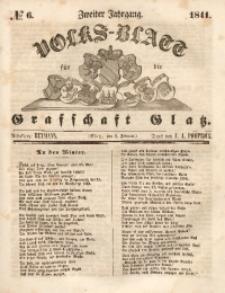 Volks-Blatt für die Grafschaft Glatz, 1841, Jg. 2, No. 6