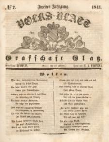 Volks-Blatt für die Grafschaft Glatz, 1841, Jg. 2, No. 7