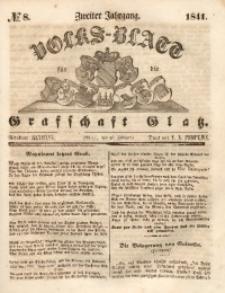 Volks-Blatt für die Grafschaft Glatz, 1841, Jg. 2, No. 8