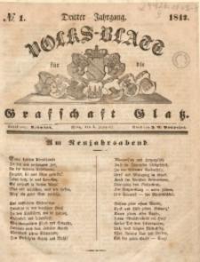 Volks-Blatt für die Grafschaft Glatz, 1842, Jg. 3, No. 1