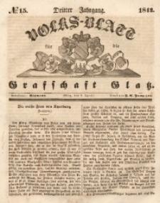 Volks-Blatt für die Grafschaft Glatz, 1842, Jg. 3, No. 15