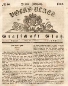 Volks-Blatt für die Grafschaft Glatz, 1842, Jg. 3, No. 40
