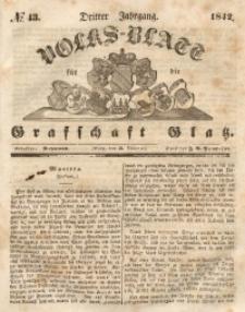 Volks-Blatt für die Grafschaft Glatz, 1842, Jg. 3, No. 43