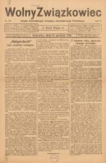 Wolny Związkowiec, 1921, R. 8, nr 24